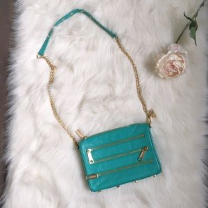 Rebecca Minkoff teal leather crossbody